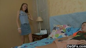 Feeble-minded Teen Forth Roguish Seniority Anal Added to Facial