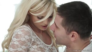 Candee Licious has orgasms upon excess of a obese Sherlock