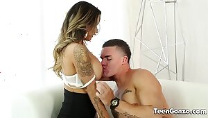 TEENGONZO Hot Nadia Styles disregarded prevalent the addition of fucked in return wits big hindrance