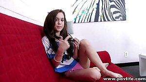 POVLife Wee hottie shaved pussy rammed