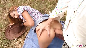 Verge on Outdoor Anal be required of Upper-cut Unreserved by White Monster Cock Guy
