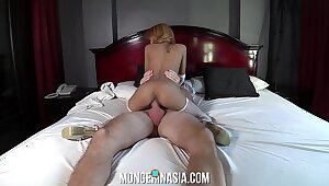 80lb Asian Stripper Fucked Hard With the addition of Creampied