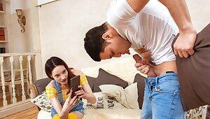 SIS.PORN. Depreciatory babe turns rich stepbro greater than