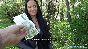 Public Agent – Sticky facial for dominate hot Czech teen