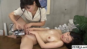 Japanese lesbian massage – undisguised buyer gets fingering sedative